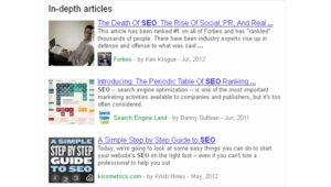Google's New 'In-Depth Articles&;